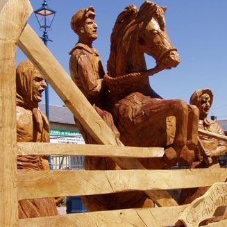 Wooden Sculpture of a horse